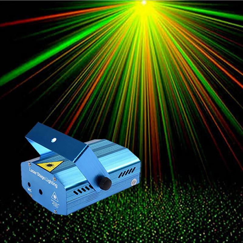 Mini Full Stars Sky Pattern Laser Projector Club Bar Shop Dance Disco Party Xmas DJ Sound Activated Stage Lighting Light 2541 new arrivals 5v 1 5a ac adapter stars gypsophila laser disco dj xmas party stage projector light eu plug black
