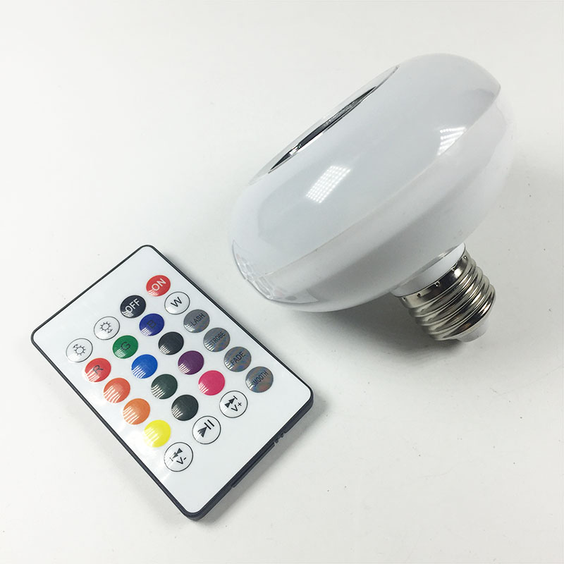 E27 Smart Wireless RGB LED Bulb Bluetooth Lampada Speaker Lamparas RC Ampoule 85V-265V Bombillas Light Music Playing szyoumy e27 rgbw led light bulb bluetooth speaker 4 0 smart lighting lamp for home decoration lampada led music playing