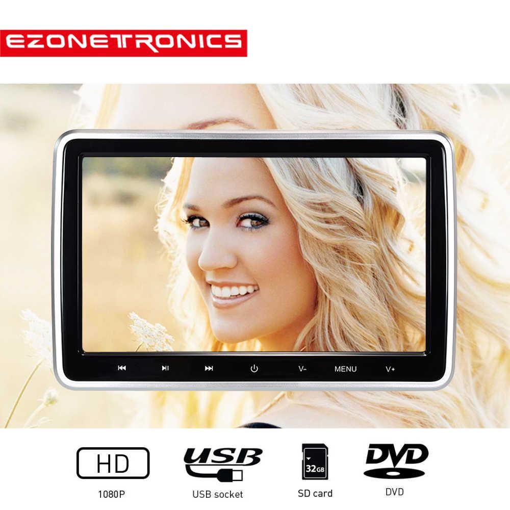 1 قطعة 10.1 بوصة سيارة راصد مسند الرأس DVD مشغل فيديو USB/SD/HDMI/IR/FM TFT LCD شاشة اللمس زر لعبة التحكم عن بعد MP4 ستيريو