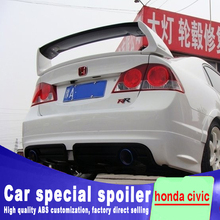 цена на 2006 2007 2008 2009 2010 2011 big Racing style spoiler For honda civic rear trunk primer high quality ABS material spoilers