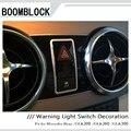 Стайлинг автомобиля наклейки для Mercedes GLK200 GLK260 GLK300 Benz AMG GLK центральная консоль нагревание света Кнопка рамка аксессуары