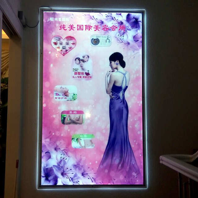 24x32 Led Wall Mounted Display Acrylic Picture Frame Light Box