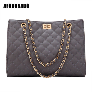 Luxury Handbags Women Bags Designer Leather Chain Large Shoulder Tote Hand Bag Fashion Crossbody For 2020 White