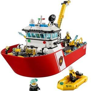 Image 4 - Yangın tekne şehir yangın 60109 yapı taşları tuğla modeli oyuncaklar çocuk çocuk hediye 461 adet