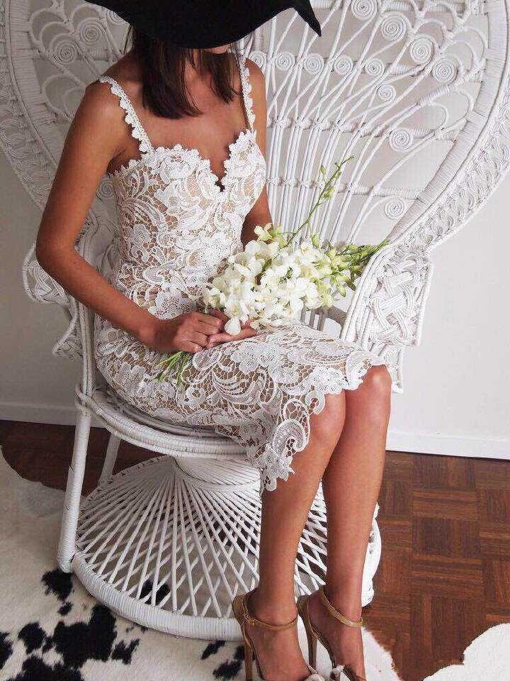 Summer Style White Black Lace Dress V Cami Bodycon Sexy cheap clothes vestidos de festa mujer Casual office Midi Dresses 6
