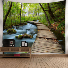 купить Landscape Indian Tapestry Wall Hanging Polyester Fabric Wall Art Tapestries For Living Room Bedroom Decoration Dropship дешево