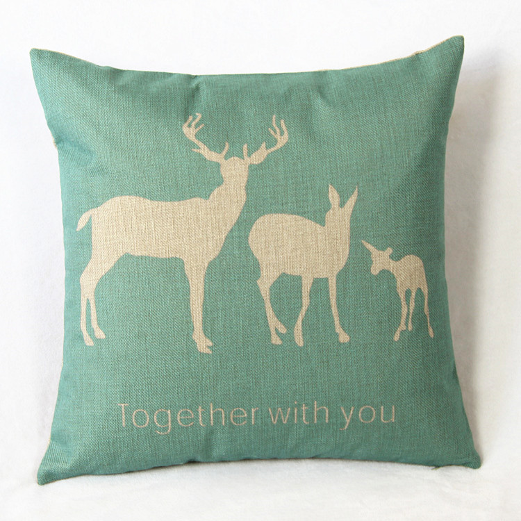 2017 Small Deer Animals Cushion Cute Cartoon Home Pillows Decoration  Childlike Simplicity Decorative Pillow Almofadas