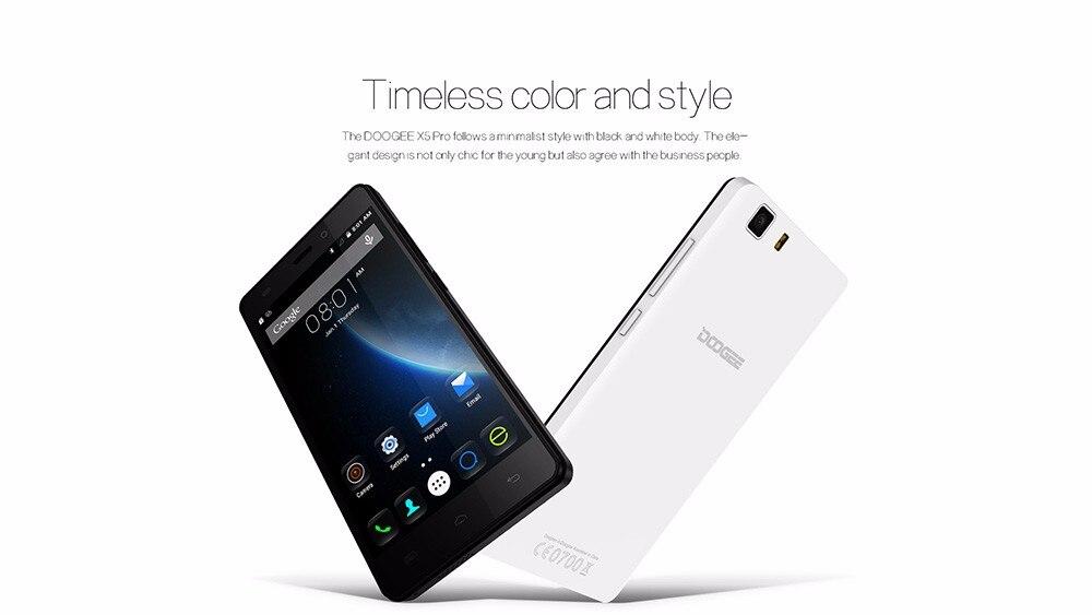 Doogee X5 pro טלפונים ניידים 5.0 Inch HD 2GB RAM+16GB ROM אנדרואיד 5.1 ה-SIM כפול MTK6735 Quad Core 5.0 MP 2400mAH GSM WCDMA-LTE, WIFI