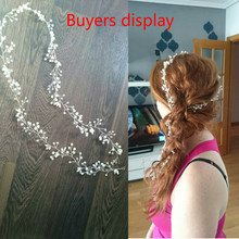 Handmade Leaf Pearl Crystal Hairbands