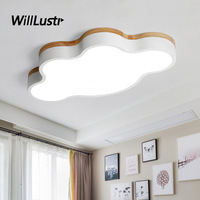 Colorful Cloud LED Ceiling Lamp Wooden Iron Light Hotel Restaurant Kindergarten Nursery Baby Room Modern Macaron Color Lighting