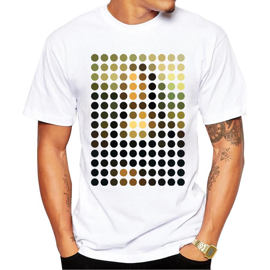 Новинка 2018 г. Модные Мона Лиза Remix Дизайн футболка для Для мужчин мальчик Hipster Прохладный топы Повседневная футболка Летняя футболка