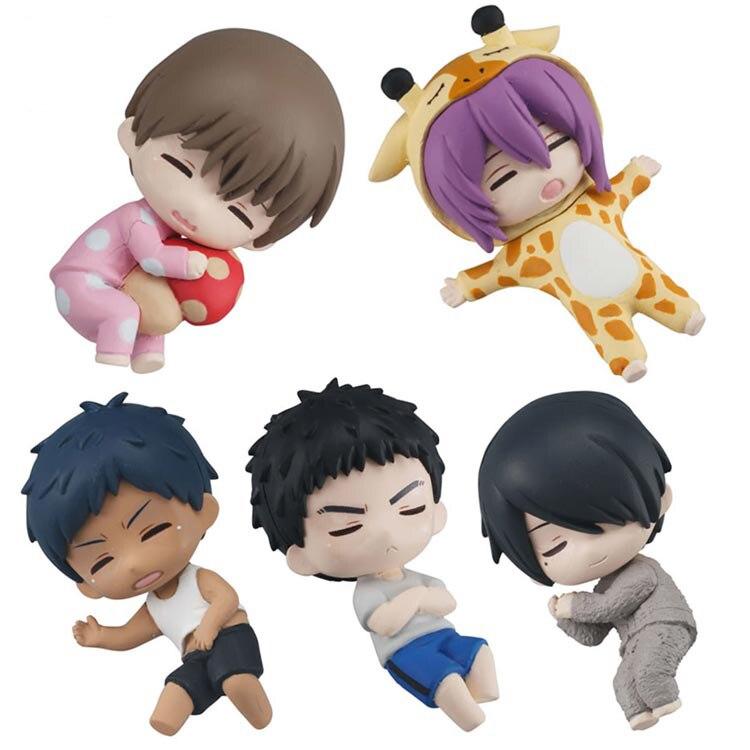 Japanese Anime kuroko no basket original Capsule toys sleeping Aomine Yukio murasakibara Ryo Himuro 5 sets gashapon figures