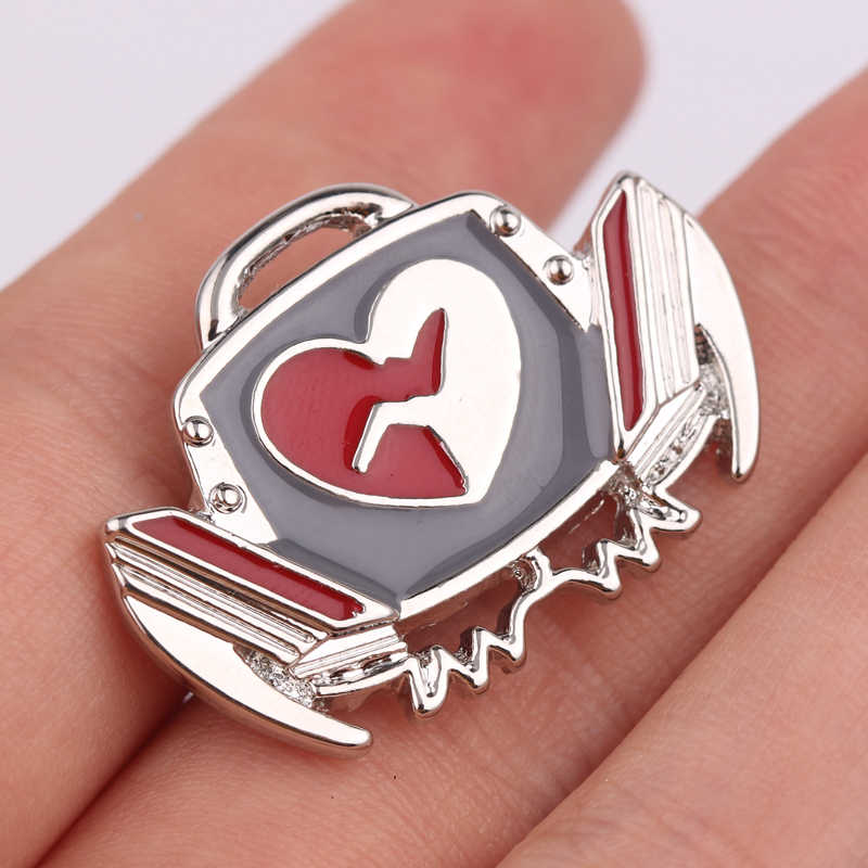Free Shipping Defibrillator Brooch Medical Jewelry Gift for Doctor/Nurse/Medical Student Pin Scarf Pins Accessorieson Collar Pin