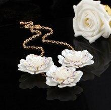 Новая Мода горячие продажи бижутерии femme личность ожерелье с четки цветок ожерелье Ювелирные Изделия Для Женщин день святого валентина
