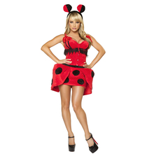 купить Free shipping Halloween ladybird Cosplay game Costume adult ladybug costume ball role play animal costume dress for women по цене 2002.13 рублей