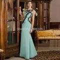 Semi Formal Dress Green Long Homecoming Dresses Lace 8th Grade Prom Gowns Vestidos meninas jovens 2016 Evening Party