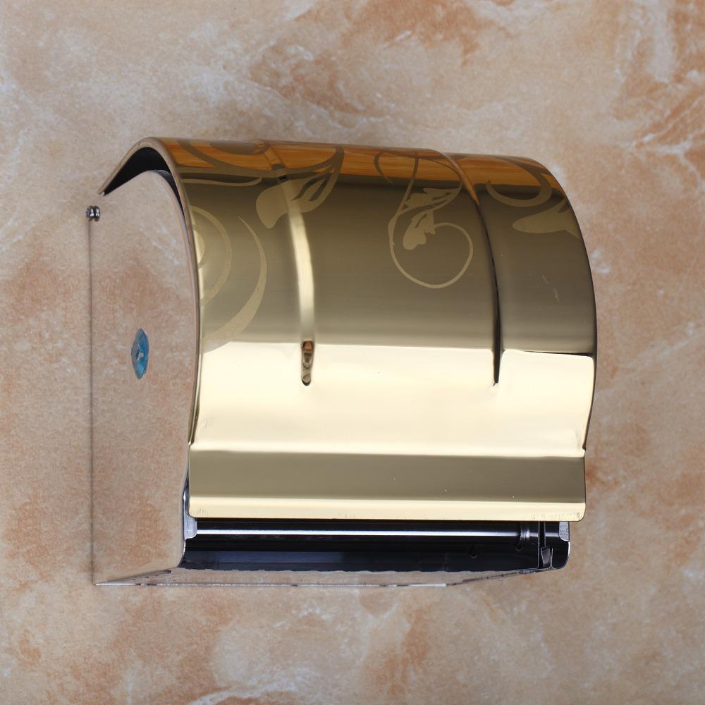 Luxus gold toilettenpapierhalter moderne papierhalter bad accessoires wand für free verschiffenchina mainland