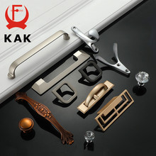 KAK Pearl Gray Cabinet Handles Gold Black Solid Zinc Alloy Kitchen Cupboard Pulls Drawer Knobs Furniture Handle Hooks Hardware(China)