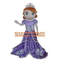 Принцесса София Маскоты взрослый костюм Софии Маскоты костюм для Хэллоуина вечерние события