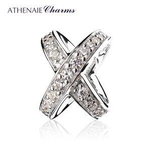Image 1 - Женский браслет ATHENAIE, из стерлингового серебра 925 пробы, с прозрачным кольцом из кубического циркония, подарок на день Святого Валентина