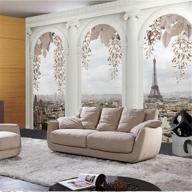 Beibehang papel de parede Continental schlafzimmer wohnzimmer TV ...
