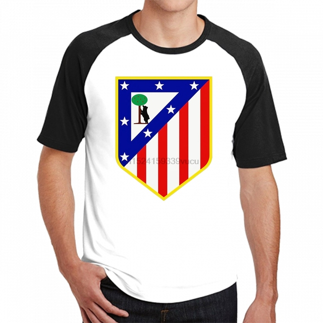 c128edc3e99 Stylish Cool cotton T Shirt Summer Style Atletico Madrid t-shirts Men  Custom Design team logo Tee shirts free shipping
