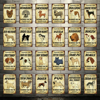[ Kelly66 ] Pet Bulldog Husky Beagle Boxer Pug Collie Metal Sign Tin Poster Home Decor Bar Wall Art Painting 20*30 CM Size Dy79
