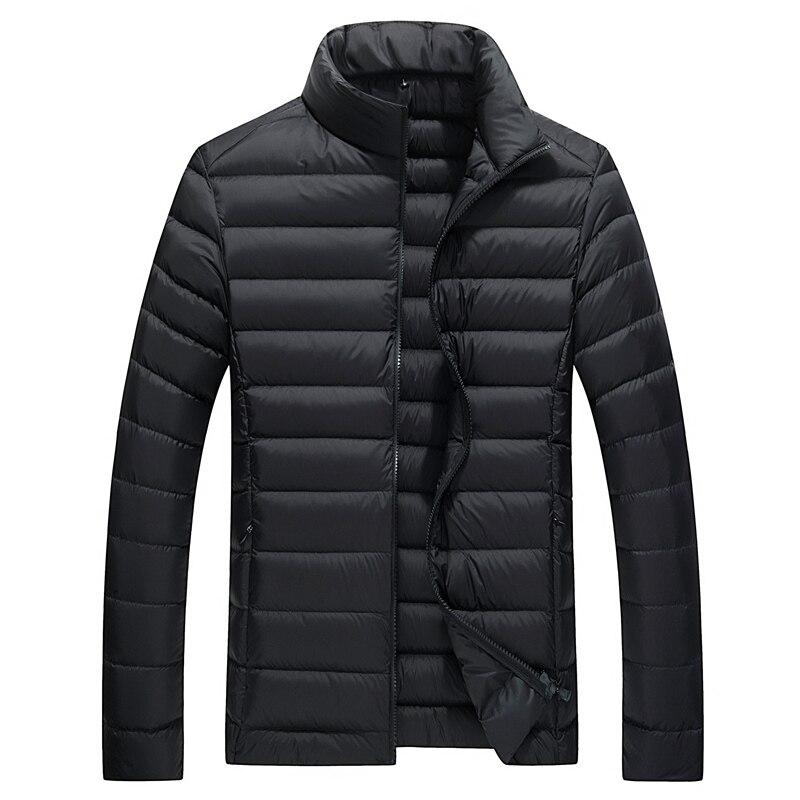 מעיל חורף גברים חדש ומעיל מרופד לעבות מעיילי מעילים גברים צווארון דוכן אופנה אדומה שחור צבא הכחול ירוק חם מעיל