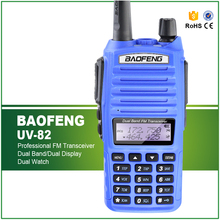 Hot Sell Blue Dual PTT Button 5W UV-82 136-174/400-520MHZ CB Communicator Walkie Talkie+Free Earphone