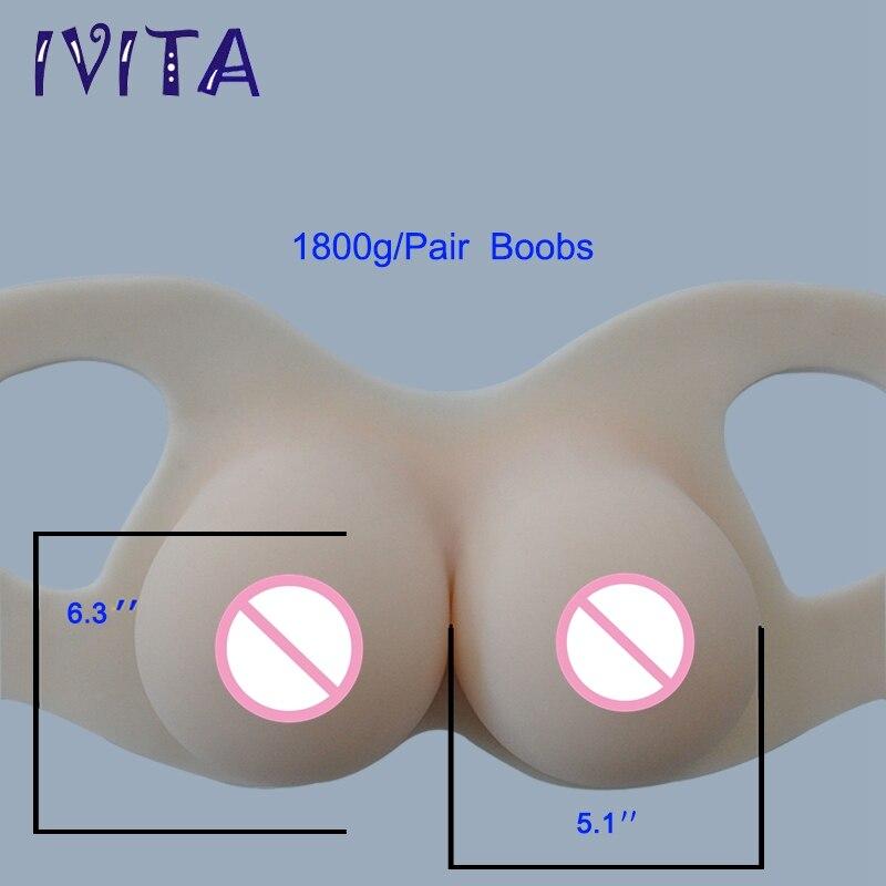 IVITA 1800g 가짜 유방 형태 인공 실리콘 유방은 Crossdresser 증강 인자 Transgender Drag-Queen 패션 유방을 위해 형성합니다