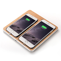 DULCII Wireless Charger Universal Wooden 2 Phones Qi Wireless Charging Pad For IPhone X 8 8