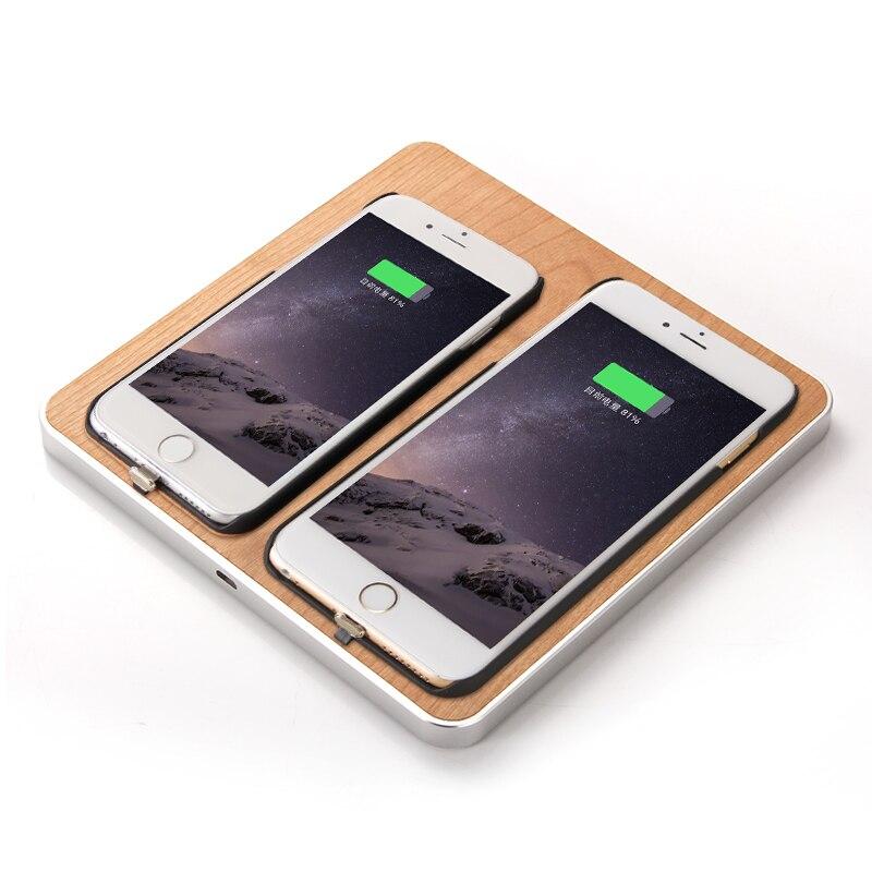 DULCII font b Wireless b font font b Charger b font Universal Wooden 2 Phones Qi