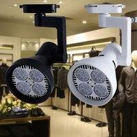Fanlive Focos LED Techo Lâmpada Pista Spot Light 30 Par30 w 45w Trilha Trilho Holofotes Elétrico Indoor Iluminação Comercial AC 110 240V|track lamp|led tracking lamp|rail light -