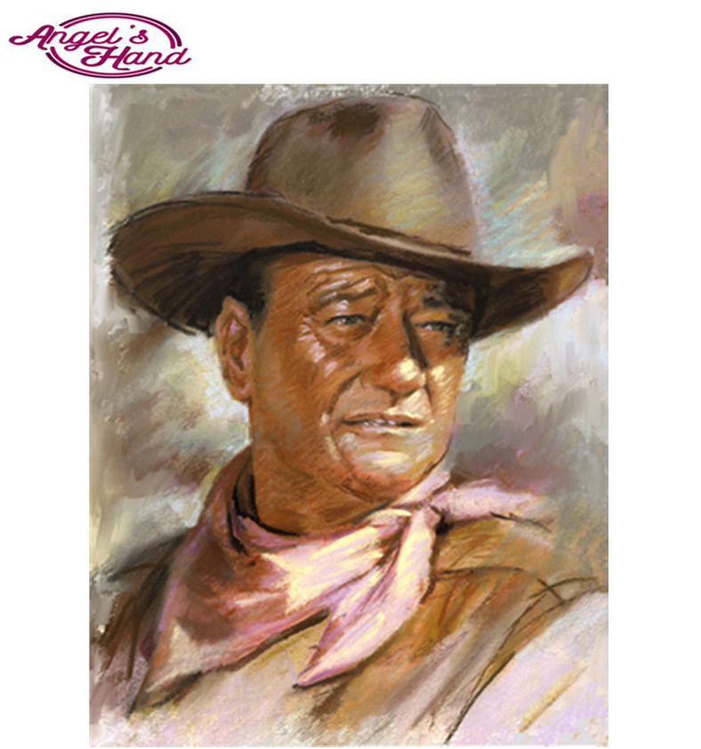 5d diy Diamante Ricamo cowboy John Wayne 3D FAI DA TE Pittura Diamante rotondo/quadrato Punto Croce di Diamanti Pittura A Mosaico regali