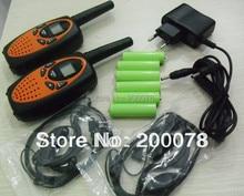 1 watt Long range PMR/FRS walkie talkie radio cb mobile radio walky talky w/121 sub code + batteries + earphones+ charger