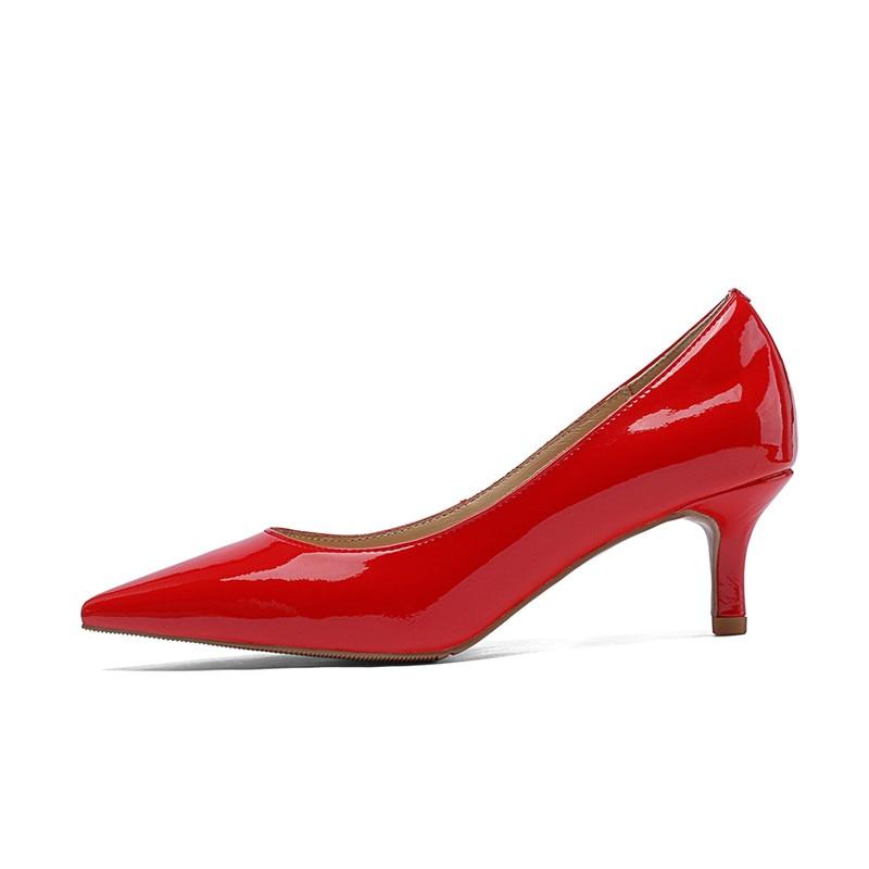 ASUMER كبير حجم 34 45 الأزياء مضخات النساء الأحذية وأشار اصبع القدم الضحلة الكعب العالي حقيقية أحذية من الجلد أنيقة أحذية الزفاف-في أحذية نسائية من أحذية على  مجموعة 3