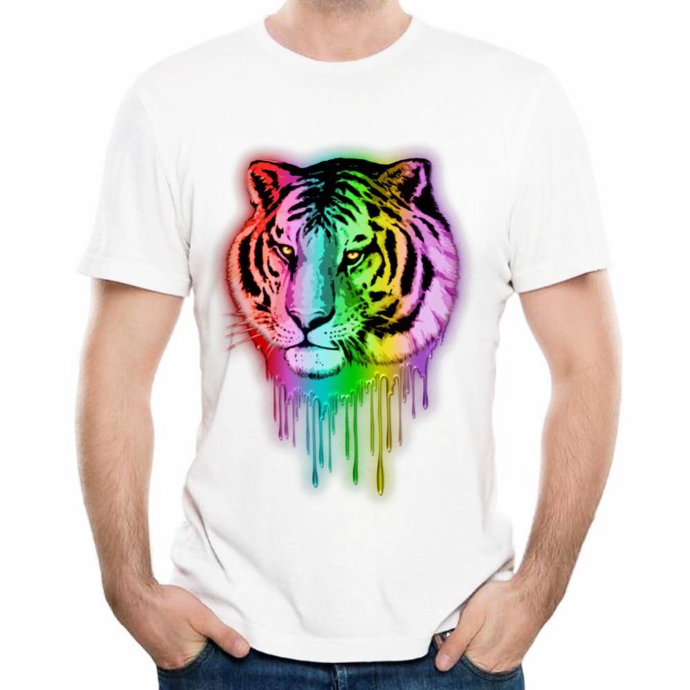 Design t shirt neon colors - X Amp Classic Tiger Neon Dripping Rainbow Colors T Shirt 3d Print Men Summer