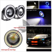 2Pcs Car Auto 3 20W White Daytime Driving Fog Runing Lamp Work Fog Light With Blue