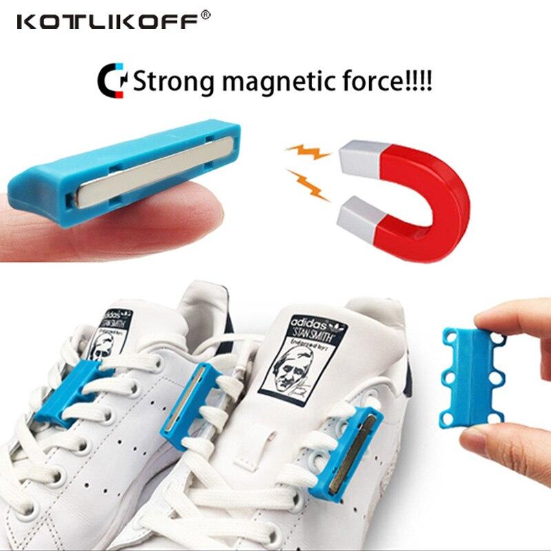 2 para Schuh Dekorationen Magnetische Schuhschnallen Casual Sneaker Kunststoff Schnürsenkel Verschluss Schnürsenkel Schnallen Keine zu Binden Schnalle schuh