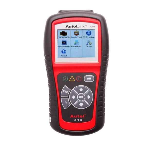 Цена за Autel Автоссылка AL519 Авто Code Reader OBD II и CAN Scan Tool al 519 Получает Родовых выключает Свет Двигателя Проверки бесплатное обновление