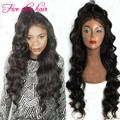 Factory price Long Wavy Lace Front wig high Ponytail Silk Top Full Lace Malaysian virgin hair wigs for black women