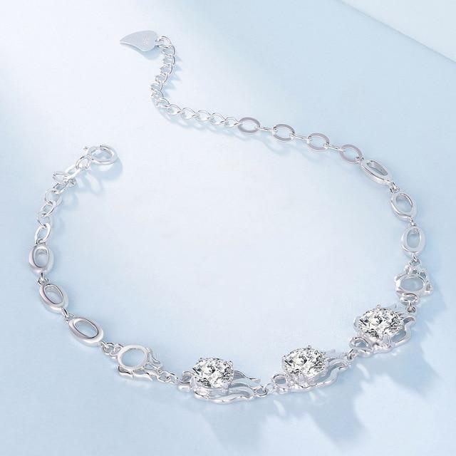 925 Sterling Silver Bracelet 925 Silver Fashion Shining Constellation Bracelet Factory Direct A Wholesale