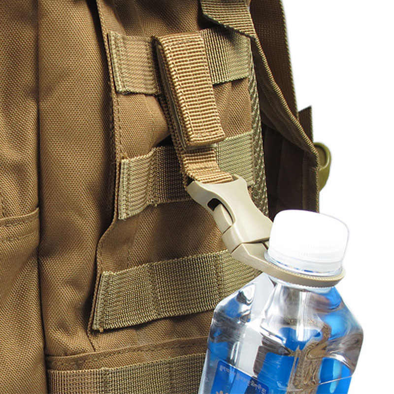 EDC 屋外軍事バックルフック水ボトルホルダークリップクライムカラビナベルトバックパックハンガーキャンプ用品アクセサリー