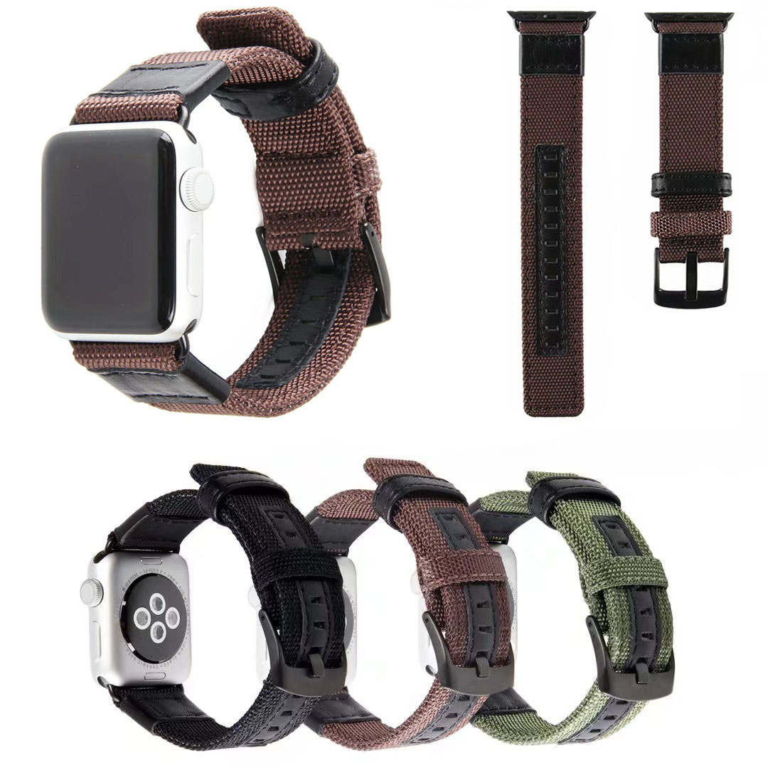 Nylon Band for Apple Watch iWatch Series 1 2 3 Strap 42mm 38mm Sports Style Fabric Watchbands Bracelet with Connectors