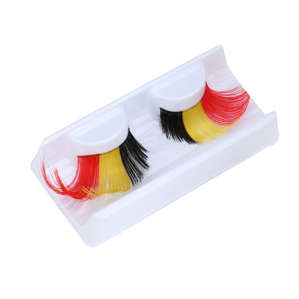 2017 Women Soft Long Feather False Eyelashes Fake Eye Lashes Extention Tools Makeup Party Club Multicolor Pestanas falsas