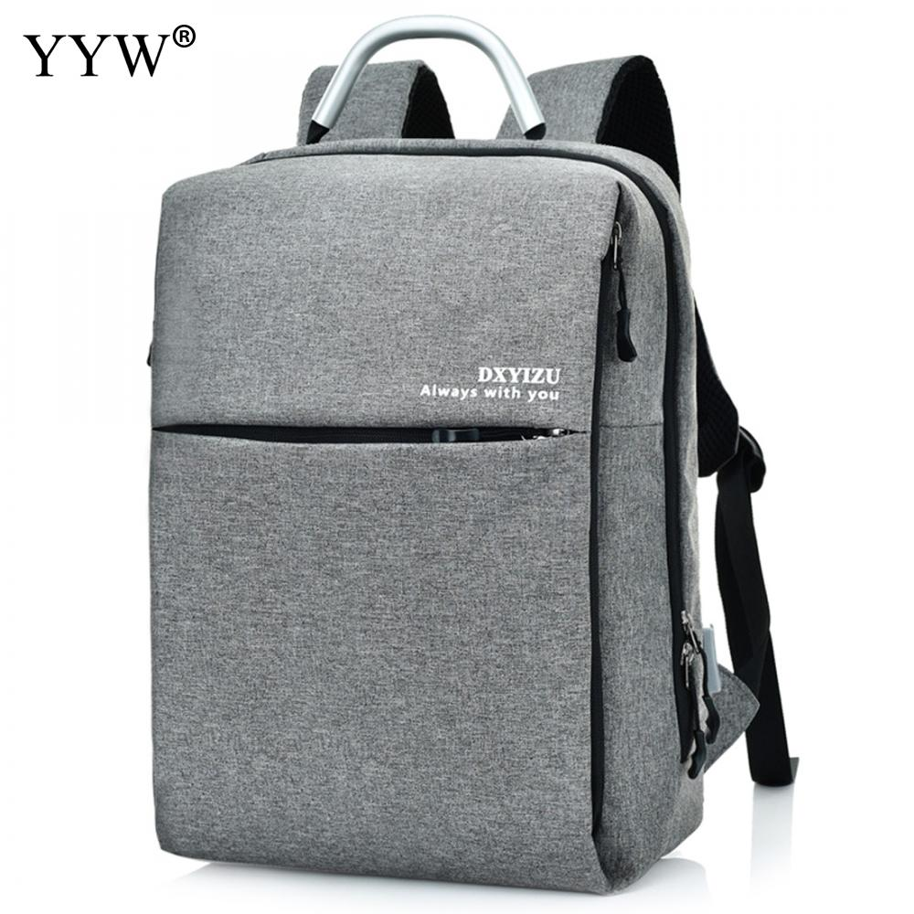 Unisex Backpack with USB Interface Gray Mens Latop Backpack Backpack Women Red Backpacks Nylon Solid Travel School Bags