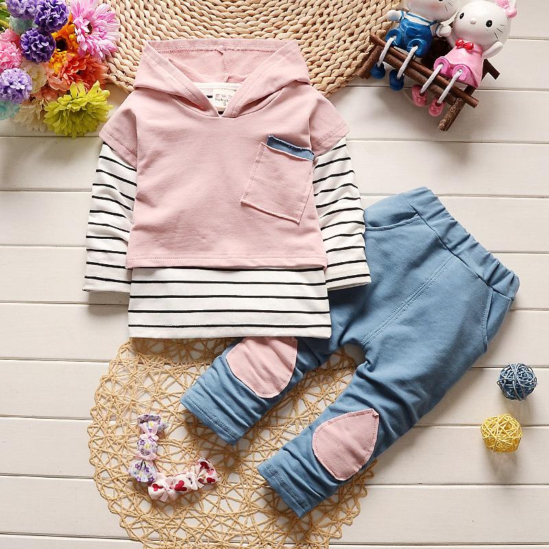 1-4T 3PCS Baby Girls Clothing Sets Kids Clothes Outwear Autumn Baby Sets Kids Long Sleeve Outfit Sports Suits Boys Clothes
