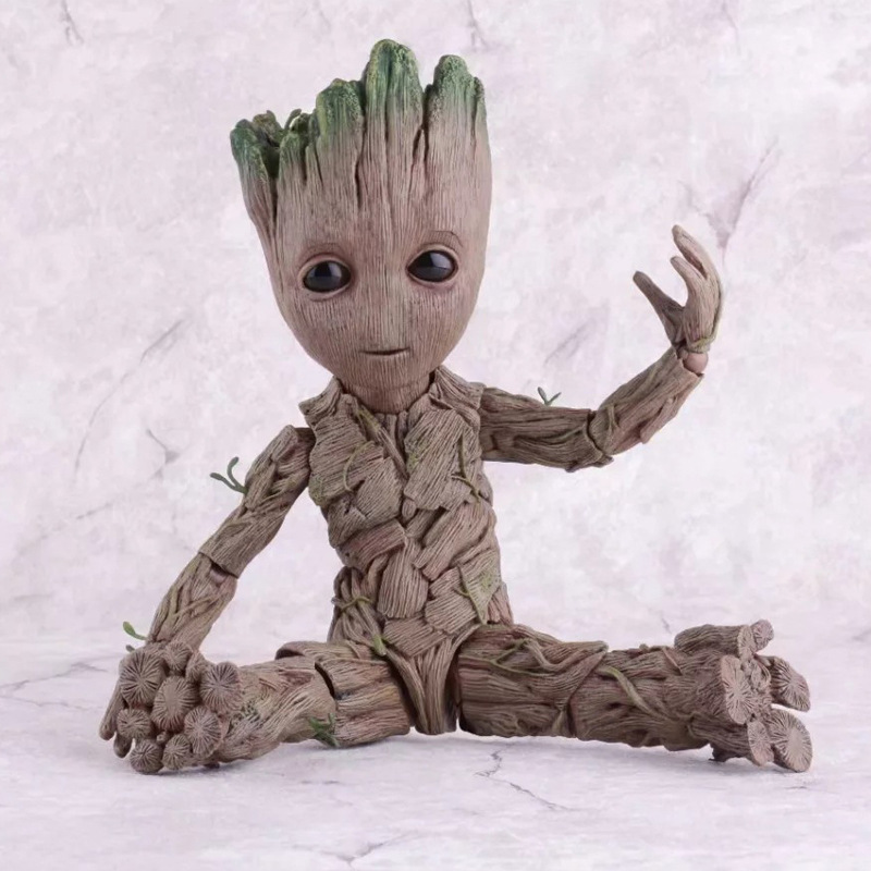 Movie Tree Man Baby Action Figure Hero Model Guardians of The Galaxy Model Toy PVC Desk Decoration Gifts for Kids in Action Toy Figures from Toys Hobbies