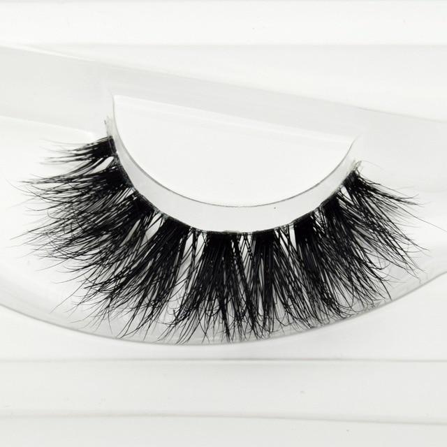 0b93816b9df Visofree Mink Lashes 3D Mink Eyelashes Invisible Band Natural Black Mink  False Eyelash Full Strip cilios posticos Reusable F37