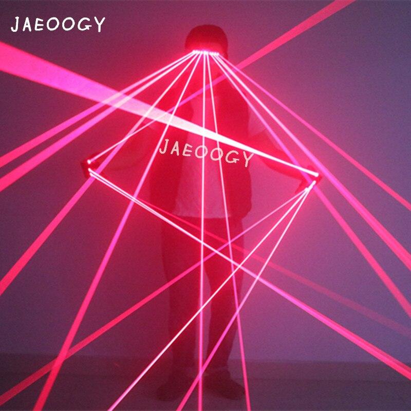 2018 Новые Индивидуальные Творческие Лазерные красные лазерные очки Панк-сценические DJ выступления лазерные светящиеся перчатки, флуоресце...